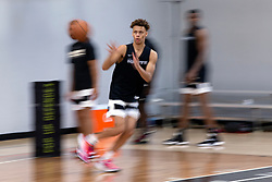 G League Ignite's Dyson Daniels catches a pass during a practice with the team on Tuesday, Sept. 28, 2021 in Walnut Creek, Calif.