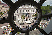 View of the opening ceremonies for the Spoleto Festival USA from a window of historic St Michael's Church on May 25, 2012 in Charleston, South Carolina. The 17-day performing arts festival will include more than 140 performances on stages throughout Charleston.