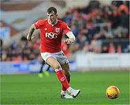 Aden Flint during the Sky Bet Championship match between Bristol City and Middlesbrough at Ashton Gate, Bristol, England on 16 January 2016. Photo by Daniel Youngs.