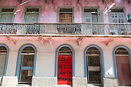 A street in the historic district of Panama City, Central America