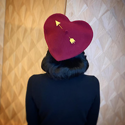 """Dita Von Teese releases a photo on Instagram with the following caption: """"How cute is my new heart shaped #beret by @adelemildred? \ud83d\udc98 I\u2019ll need this in a dozen colors, thank you!"""". Photo Credit: Instagram *** No USA Distribution *** For Editorial Use Only *** Not to be Published in Books or Photo Books ***  Please note: Fees charged by the agency are for the agency's services only, and do not, nor are they intended to, convey to the user any ownership of Copyright or License in the material. The agency does not claim any ownership including but not limited to Copyright or License in the attached material. By publishing this material you expressly agree to indemnify and to hold the agency and its directors, shareholders and employees harmless from any loss, claims, damages, demands, expenses (including legal fees), or any causes of action or allegation against the agency arising out of or connected in any way with publication of the material."""
