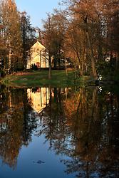 CZECH REPUBLIC VYSOCINA NEDVEZI 31OCT09 - View across the village pond in Nedvezi, Vysocina, Czech Republic...jre/Photo by Jiri Rezac..© Jiri Rezac 2009
