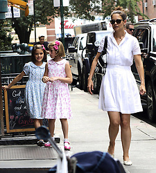 August 8, 2016 - New York, New York, United States - Actress Katie Holmes and her daughter Suri Cruise (L) out in Soho on August 8 2016 in New York City  (Credit Image: © Nancy Rivera/Ace Pictures via ZUMA Press)