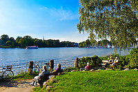 Alster Lake, Hamburg, Germany