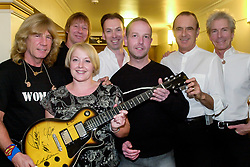 Status Quo back stage meet and greet at Sheffield City Hall during the bands Riffs tour<br /> 2 November 2003 .<br /> <br /> image copyright Paul David Drabble
