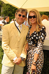 ALAIN DE CADANET and ALISON at a luncheon hosted by Cartier for their sponsorship of the Style et Luxe part of the Goodwood Festival of Speed at Goodwood House, West Sussex on 4th July 2010.