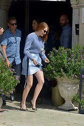 Emma Stone leaves the Excelsior Hotel , 75th Venice Film Festival. 30 Aug 2018 Pictured: Emma Stone. Photo credit: KILPIN / MEGA TheMegaAgency.com +1 888 505 6342