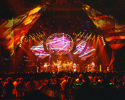 Grateful Dead in Concert 29 September 1994 at The Boston Garden. Image No. 94GDC52-12. Stage, Set and Lighing Design View. Photography taken from the lighting booth for Candace Brightman LD.