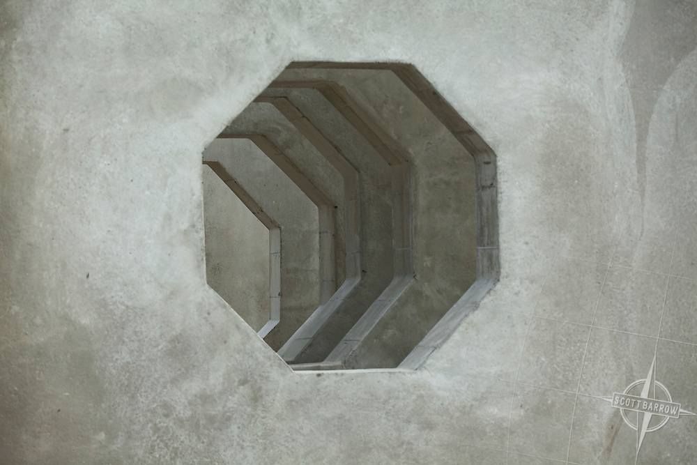 Unistress Concrete sections formed in a factory and used for building construction.