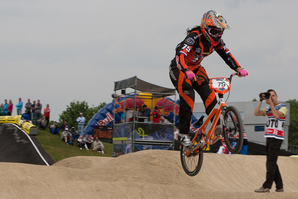 #75 (VAN BENTHEM Merle) NED at the UCI BMX Supercross World Cup in Papendal, Netherlands.
