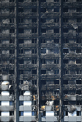 The scene after a fire engulfed the 24-storey Grenfell Tower in west London.