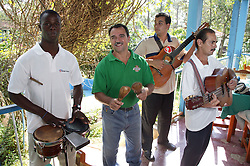 Musicians entertaining at restaurant in Vinales; Pinar Province; Cuba,