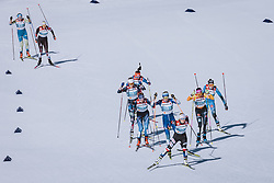 28.02.2021, Oberstdorf, GER, FIS Weltmeisterschaften Ski Nordisch, Oberstdorf 2021, Damen, Langlauf, Teamsprint, Freestyle, im Bild Katerina Janatova (CZE) // Katerina Janatova of Czech Republic during women Cross Country team sprint freestyle competition of the FIS Nordic Ski World Championships 2021 in Oberstdorf, Germany on 2021/02/28. EXPA Pictures © 2021, PhotoCredit: EXPA/ Dominik Angerer