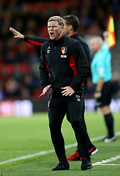 AFC Bournemouth manager Eddie Howe shouts on the touchline