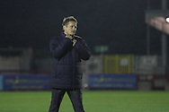 AFC Wimbledon manager Neal Ardley during the EFL Trophy match between AFC Wimbledon and Plymouth Argyle at the Cherry Red Records Stadium, Kingston, England on 4 October 2016. Photo by Stuart Butcher.