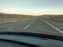 Look at all the traffic to Eclipse Totality near Boise ID, Not ! There was none. On the Highway to the Solar Eclipse 2017 at Farewell Bend State Recreation Area Oregon on the Snake River on the 21st August