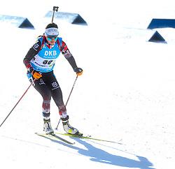 Dunja Zdouc of Austria competes during the IBU World Championships Biathlon Women's 7,5 km Sprint Competition on February 13, 2021 in Pokljuka, Slovenia. Photo by Primoz Lovric / Sportida