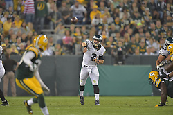 Matt Barkley #2 of the Philadelphia Eagles against the Green Bay Packers at Lambeau Field on August 29, 2015 in Green Bay, Pennsylvania. The Eagles won 39-26. (Photo by Drew Hallowell/Philadelphia Eagles)
