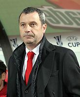 Trainer Mircea Rednic Dinamo Bukarest - <br />  Vdig, hoch UEFA Cup 2006/2007, Europapokal, Europacup, Pokal, Dynamo Bukarest Bukarest Fußball EC 3 Herren Mannschaft Porträt Randmotiv Personen<br /> <br /> norway only