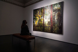 © Licensed to London News Pictures. 09/10/2020. London, UK. A painting titled Boiler House (1993) by artist Peter Doig. Photo credit: Ray Tang/LNP
