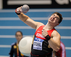 07.03.2014, Ergo Arena, Sopot, POL, IAAF, Leichtathletik Indoor WM, Sopot 2014, Tag 1, im Bild DAWID STORL // DAWID STORL during day one of IAAF World Indoor Championships Sopot 2014 at the Ergo Arena in Sopot, Poland on 2014/03/07. EXPA Pictures © 2014, PhotoCredit: EXPA/ Newspix/ Rafal Oleksiewicz<br /> <br /> *****ATTENTION - for AUT, SLO, CRO, SRB, BIH, MAZ, TUR, SUI, SWE only*****