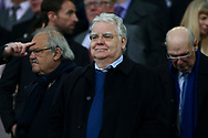Everton Chairman Bill Kenwright looks on from the directors box. Premier league match, Everton v West Bromwich Albion at Goodison Park in Liverpool, Merseyside on Saturday 11th March 2017.<br /> pic by Chris Stading, Andrew Orchard sports photography.