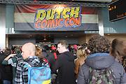 Eerste editie van de Dutch Comic Con in de jaarbeurs, Utrecht.De Comic Con in een evenement wat gericht is op comics, films, cartoons, games .<br /> <br /> Op de foto:  Dutch Comic Con in de jaarbeurs