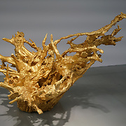 Chinese artist Al Weiwei showcases 'Iron Root 2015' at Everything at once showcases at  The Studios, 180 The Strand on 8th Dec 2017, London, UK.