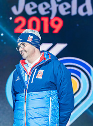 20.02.2019, Seefeld, AUT, FIS Weltmeisterschaften Ski Nordisch, Seefeld 2019, Eröffnungsfeier, im Bild Werner Frießer (Bürgermeister Seefeld) // Werner Frießer Mayor of Seefeld during the opening ceremony of the FIS Nordic Ski World Championships 2019. Seefeld, Austria on 2019/02/20. EXPA Pictures © 2019, PhotoCredit: EXPA/ Stefan Adelsberger