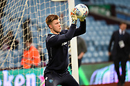 Leeds United goalkeeper Bailey Peacock-Farrell (30) during the EFL Sky Bet Championship match between Aston Villa and Leeds United at Villa Park, Birmingham, England on 13 April 2018. Picture by Dennis Goodwin.