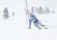 Carnival Collegiate slalom at Cannon Mountain. ©2014 Karen Bobotas Photographer