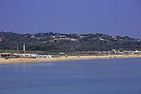 beautiful pampelone beach near saint tropez on the french riviera