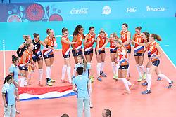 20150619 AZE: 1ste European Games Baku Servie - Nederland, Bakoe<br /> Nederland verslaat Servie met 3-2 / Nederland klaar voor de wedstrijd tegen Servie