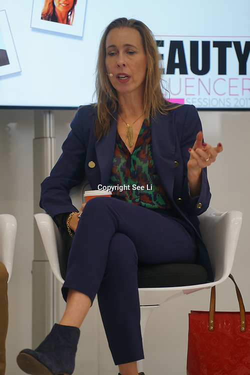Olympia London, London, England, UK. Marie Louise Pumfrey is London's leading fashion and lifestyle PR talk show 'How to Get Noticed' at The Olympia Beauty show at Kensington Olympia in London on 1st October 2017.