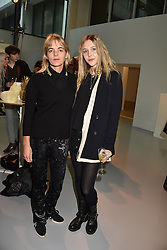 Left to right, Lucinda Mellor and Eliza Henderson at the LFW Sponge Bob Gold presentation at The Atrium, The Store Studios, 180 The Strand, London England. 18 February 2017.