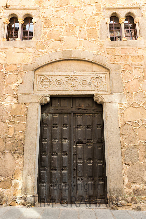 Traditional architecture of Palacio d'Avila in Avila, Spain