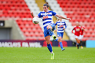 Reading defender Deanna Cooper (14) controls the ball during the FA Women's Super League match between Manchester United Women and Reading LFC at Leigh Sports Village, Leigh, United Kingdom on 7 February 2021.