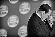 Silvio Berlusconi durante il comizio del Popolo della Liberta' per  la presentazione delle liste per le prossime elezioni politiche al teatro Capranica di Roma, 25 gennaio 2013.<br /> Christian Mantuano /  OneShot