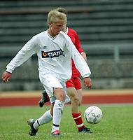 Fotball<br /> Landslagssamling G15 og G16<br /> Porsgrunn<br /> 01.07.2004<br /> <br /> Foto: Morten Olsen, Digitalsport<br /> <br /> Per Egil Flo - Stryn G15