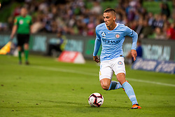 February 9, 2019 - Melbourne, VIC, U.S. - MELBOURNE, AUSTRALIA - February 09 : Lachlan Wales of Melbourne City  controls the ball during round 18 of the Hyundai A-League Series between Melbourne City and Adelaide United on February 9 2019, at AAMI Park in Melbourne, Australia. (Photo by Jason Heidrich/Icon Sportswire) (Credit Image: © Jason Heidrich/Icon SMI via ZUMA Press)