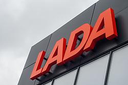 November 10, 2018 - Tambov, Tambov region, Russia - Brand logo of Lada motor show (Credit Image: © Demian Stringer/ZUMA Wire)