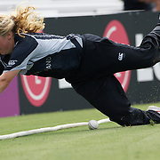 Lucy Doolan can't stop a boundary  during the match between England and New Zealand in the Super 6 stage of the ICC Women's World Cup Cricket match at Bankstown Oval, Sydney, Australia on March 14 2009, England won the match by 31 runs. Photo Tim Clayton