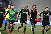 esultanza a fine gara Sassuolo<br /> Reggio Emilia 19-08-2018 Mapei Stadium <br /> Football Calcio Serie A 2018/2019 Sassuolo - Inter  Foto Matteo Gribaudi / Image Sport / Insidefoto