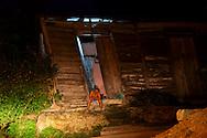 Leaning house in Manzanillo, Granma, Cuba.