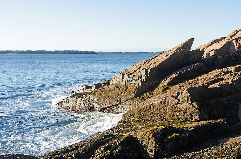 The coast of Maine on a December morning off Seal Harbor.