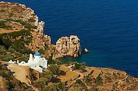 Grece, Cyclades, ile de Sifnos, monastere de la Panagia Poulati // Greece, Cyclades islands, SIfnos, Panagia Poulati monastery