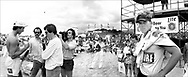 Men's AVP (@avpbeach) $20,000 Lite Beer #Zuma Beach Open - July 5-6, 1986 - Double-elimination tournaments mean that you have to lose twice to be eliminated. On this cold morning at Zuma Beach in Malibu, the greatest team of all time lost once in the opening rounds. Sinjin was trying to make the best of it, as he was interviewed by a sports reporter and Randy was beside himself. Sinjin's rationale (or excuse depending on your POV) was that sometimes it's easier to get to the finals through the loser's bracket. As I remember, it did turn out that Sinjin and Randy made short work of most of their opponents until the finals, with several matches lasting only a few minutes, and ultimately won the tournament by beating the odd team of Tim Hovland and Karch Kiraly. From Widelux Beach available at Kim Reilly Arts on Manhattan Ave. in Manhattan Beach, California. (310) 372-3681
