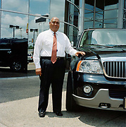 Portrait of Ben Mc Gee , Sales person of the year 2003. From a series on car salesmen taken in the southern states of America.