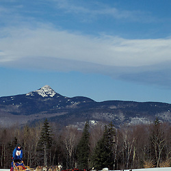 Mt. Chocorua provides a scenic backdrop for the Sandwich 60. Sled-dogs.  Sandwich, NH