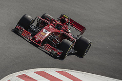 May 11, 2018 - Barcelona, Catalonia, Spain - KIMI RAIKKONEN (FIN) drives during the first practice session of the Spanish GP at Circuit de Catalunya in his Ferrari SF-71H (Credit Image: © Matthias Oesterle via ZUMA Wire)